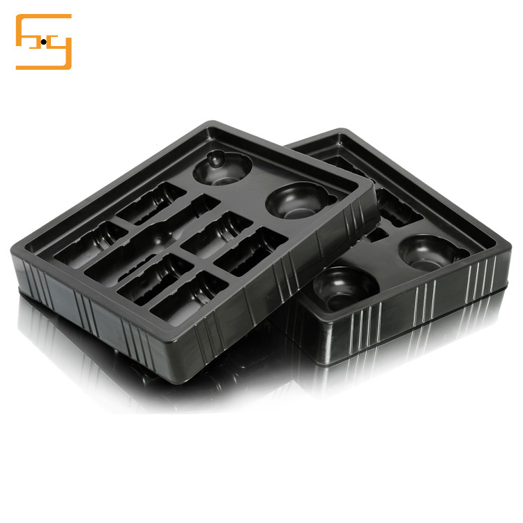 Custom design plastic food grade tray blister,divided food trays plastic for chocolate packaging