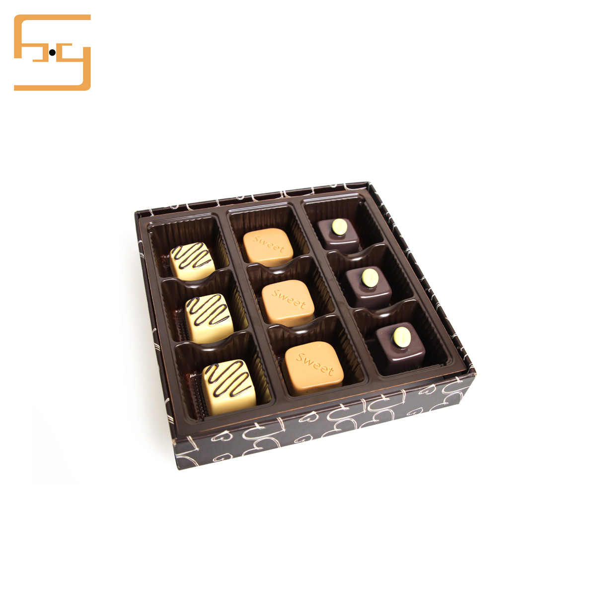 2019 Transparent chocolate tray box chocolateblister tray box packaging tray