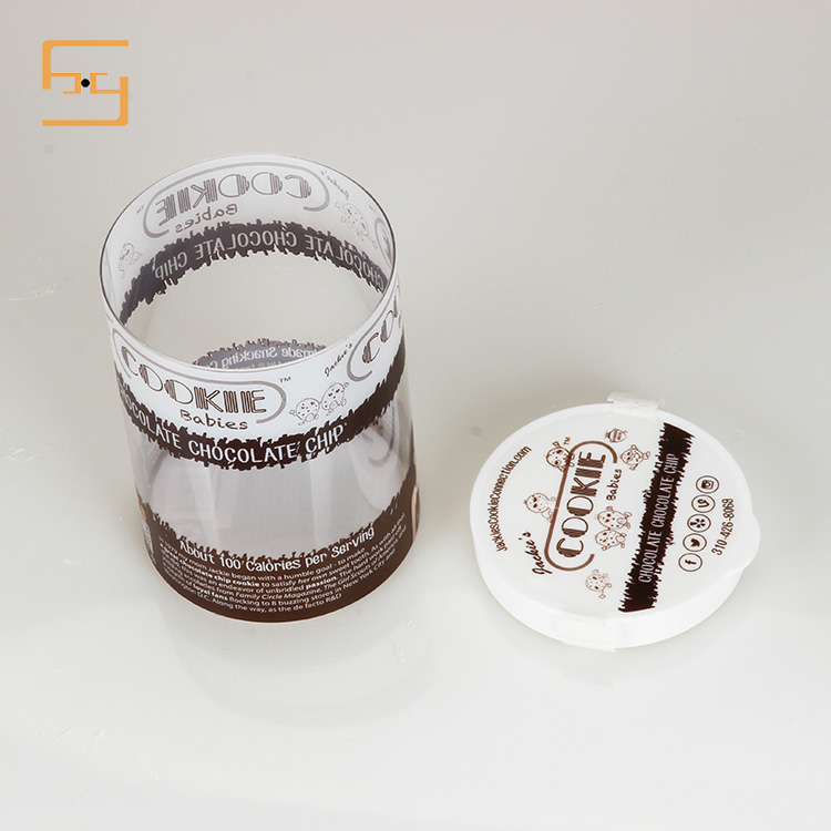 Round Transparent Cookie Packaging Box, Plastic Cookie Container 5